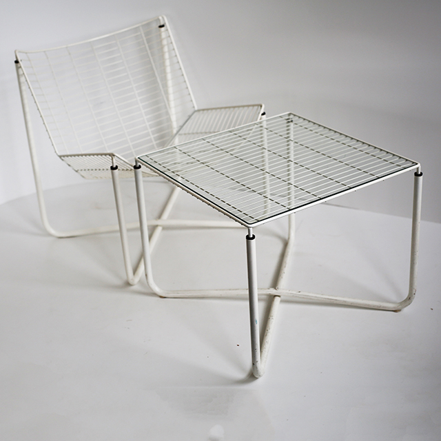 davintage-niels-gammelgaard-Ikea-Jarpen-draadstoel-wirechair-and-table-1980-2